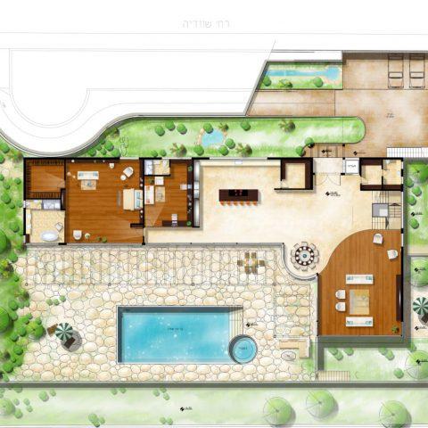 בית פרטי בדניה – בשלב תכנון